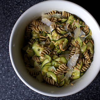 Zucchini and Almond Pasta Salad.
