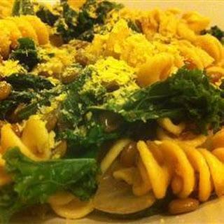 Lentil and Kale Pasta.
