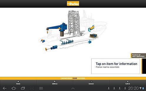 Parker Marine App screenshot