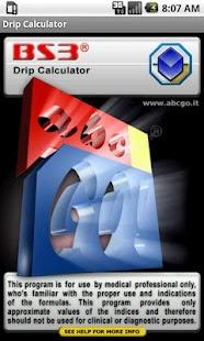 BS3 Drip Calculator- screenshot thumbnail