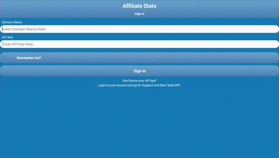 Affiliate Stats - screenshot