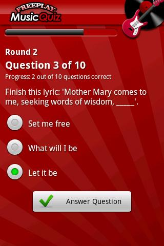 FreePlay Music Quiz - screenshot