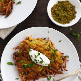 Spiced Potato & Carrot Latkes