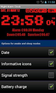 Night Alarm Clock - screenshot thumbnail
