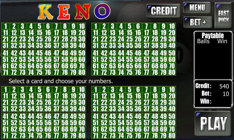 Keno Game Free- screenshot