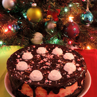 Gluten-Free Candy Cane Brownie Cheesecake!
