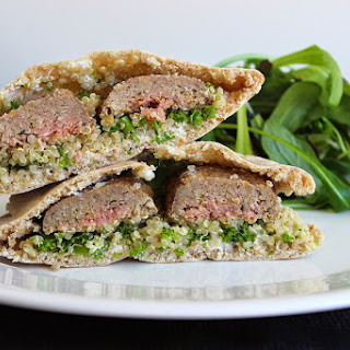 Lamb Kofta Pita Pockets with Quinoa Tabbouleh