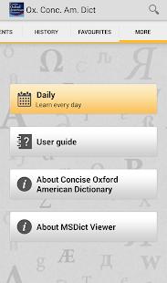 Concise Oxford American Dict- screenshot thumbnail