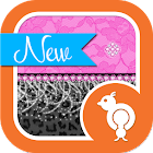 Cheetah & Pink Lace Theme SMS icon