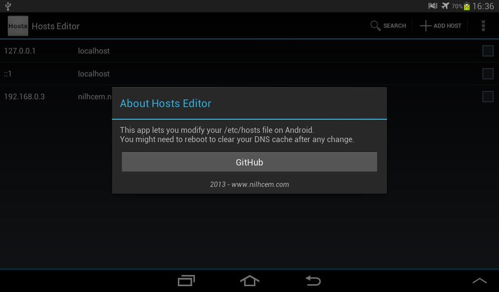 Hosts Editor- screenshot