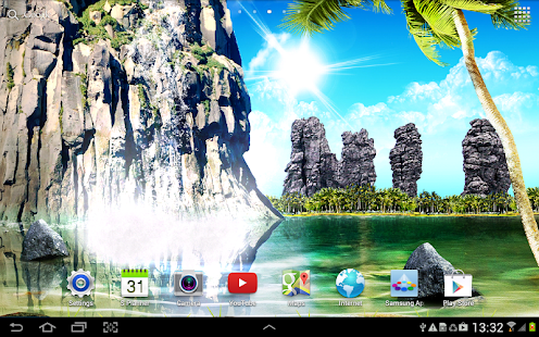 Tropical 3D Waterfall Free