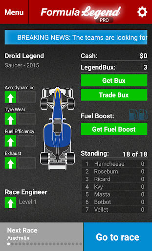 Formula Legend: Racing Manager