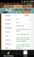 Screenshot of English Vietnamese Dictionary