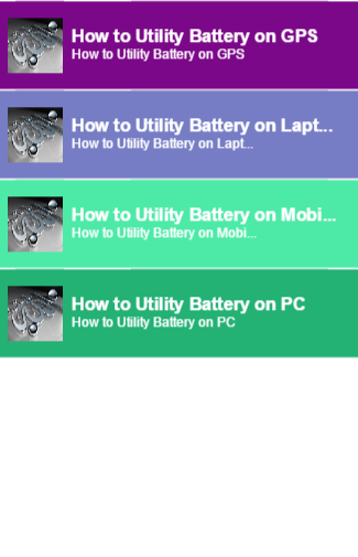 how to utility battery