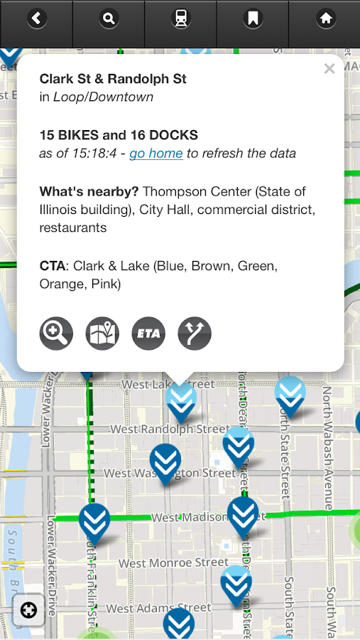 Chicago Bike Guide- screenshot