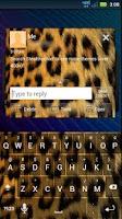 Screenshot of GO SMS Cheetah Theme