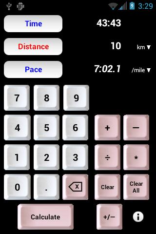 Athlete's Calculator
