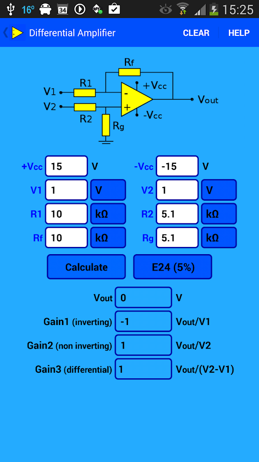 Opamp Calculator - screenshot