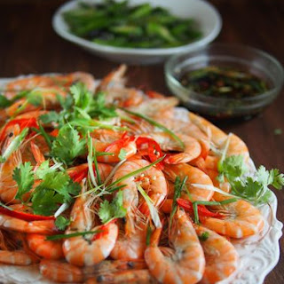 Cantonese Boiled Shrimps.