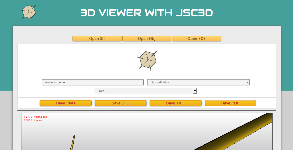 3D Model Droid Viewer - screenshot