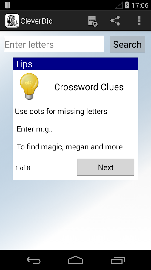 CleverDic Crossword Solver- screenshot