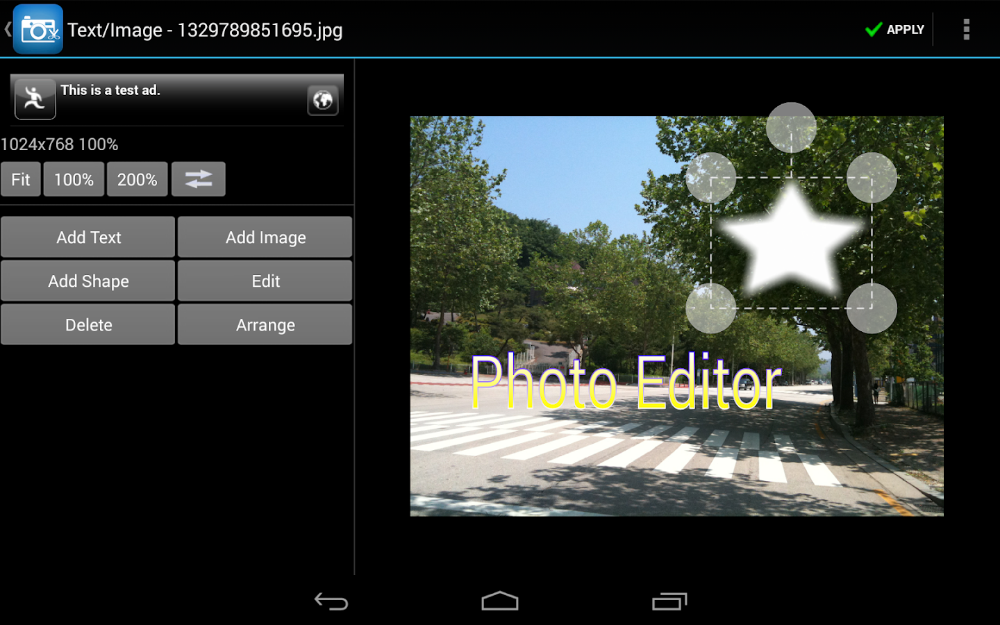 Photo Editor - screenshot