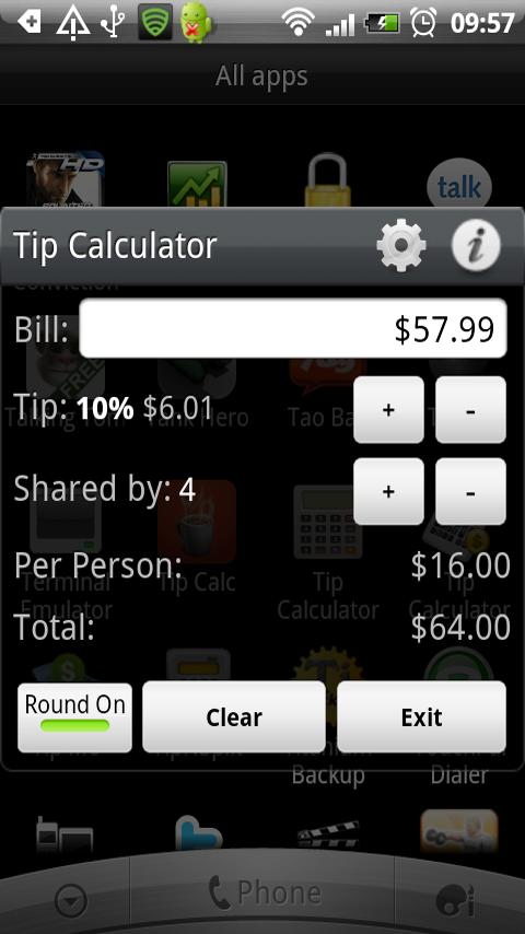 Tip Calculator Donate Version- screenshot