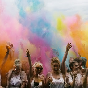 colour explosion by Karen Shivas - People Street & Candids ( colour, red, blue, green, pink, yellow, people )