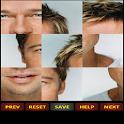 Sexy men puzzle logo