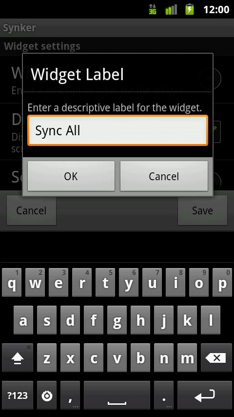 Synker - The Sync Widget - screenshot