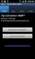 Screenshot of Tip Calculator 3000