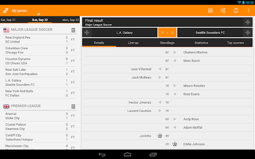 Sporee - Live Soccer Scores - screenshot thumbnail