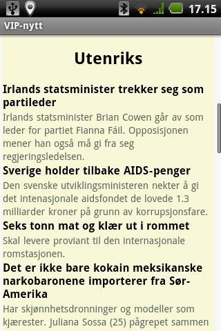 VIP nytt - Alle norske nyheter- screenshot