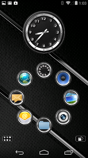 Smart Launcher Theme Leather