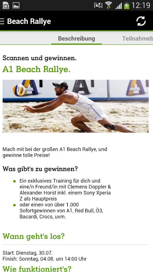 A1 Beach App - screenshot