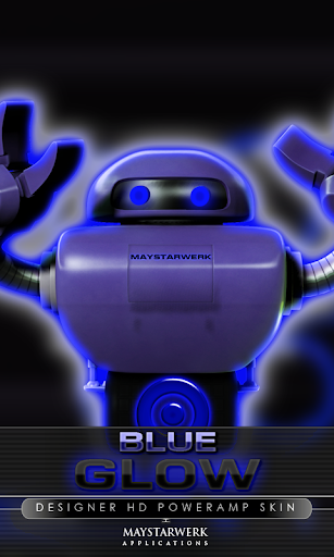 poweramp skin glow blue
