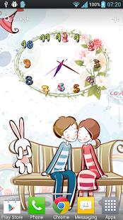 玩個人化App|花卉藝術時鐘動態桌布 Free&Pro免費|APP試玩