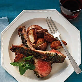 Roast Rack of Lamb with Mint.