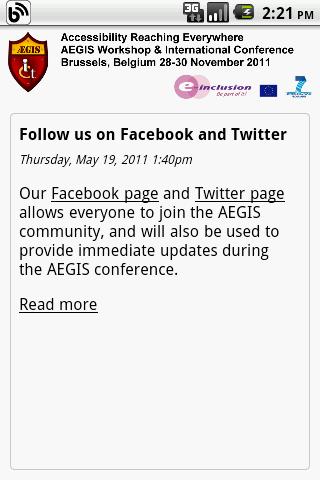 AEGIS Conf. App - screenshot
