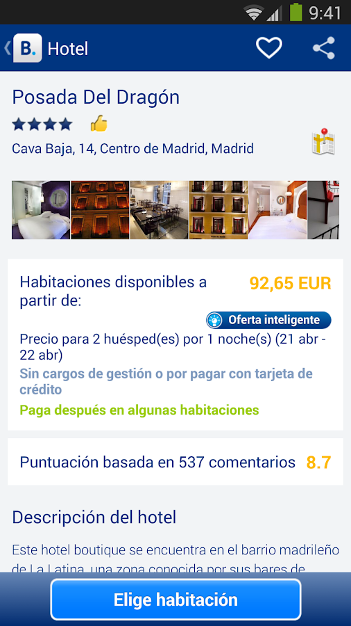 Booking.com: +430.000 hoteles - screenshot