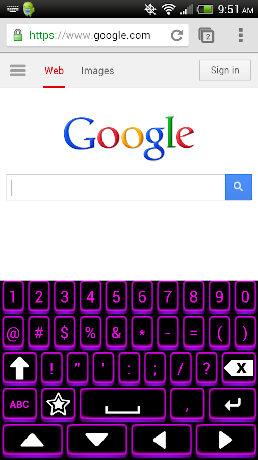 Neon Keyboard - screenshot