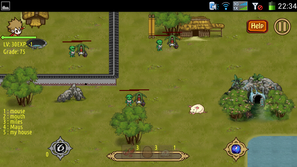 English game - screenshot
