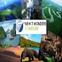 New 7 wonders of nature logo