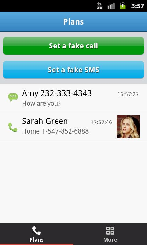 Mr Caller (Fake Call&SMS) - screenshot