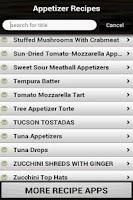 Screenshot of Appetizer Recipes