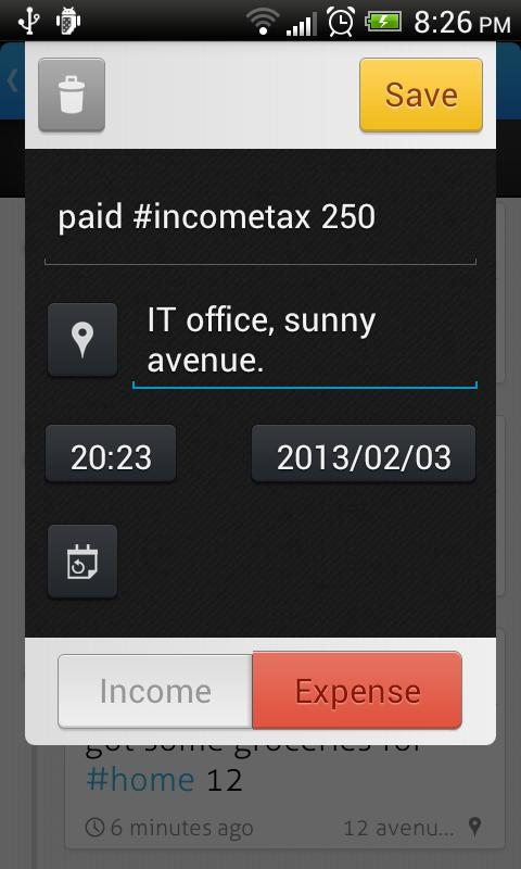 Trackash - Expense Manager - screenshot