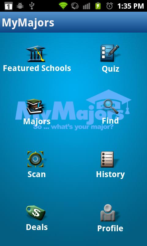 MyMajors - screenshot