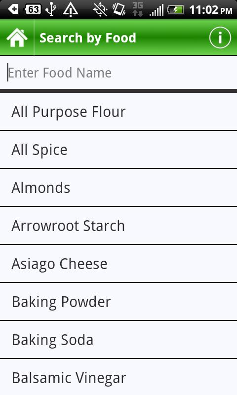 Food Substitutes - screenshot