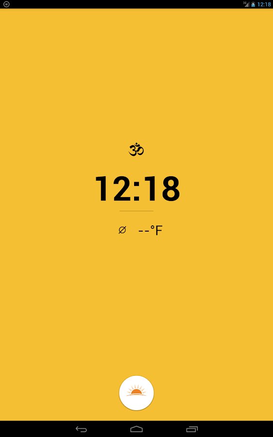 Warmly — An alarm clock- screenshot