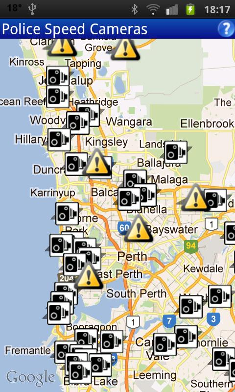 Speed Cams Perth- screenshot